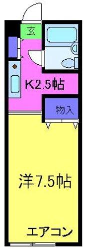ブールバール忠岡・211号室の間取り