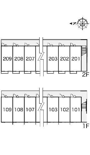 レオパレスひまわり 206号室のその他共有