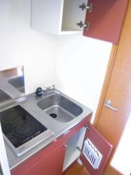 レオパレスひまわり 208号室のキッチン