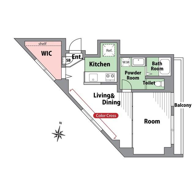 小石川マンション 504号室の間取り