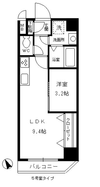 レジデンス悠海(西尾) 605号室の間取り