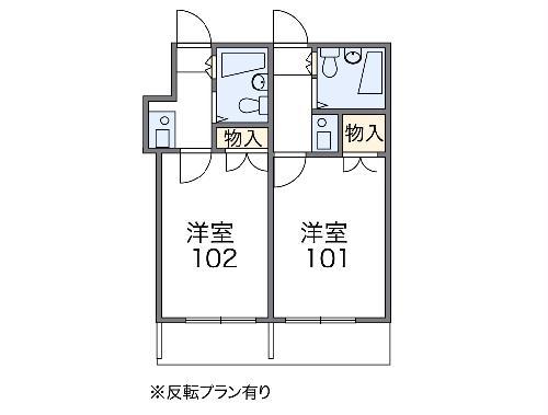 レオパレス八幡新田第1・103号室の間取り