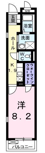 トーレ・ハナ・03040号室の間取り