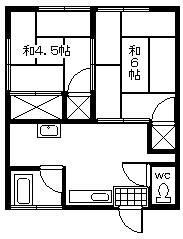 松本アパート 201号室の間取り