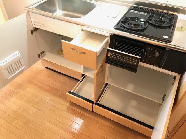 サンライズ桜 101号室のキッチン