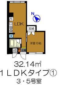 土浦学園通りビル・803号室の間取り