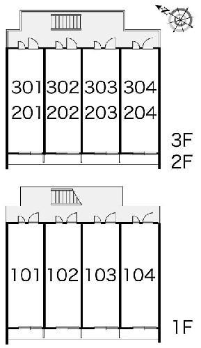 レオパレス新和 202号室の駐車場