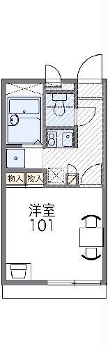 レオパレスイン京都 106号室の間取り