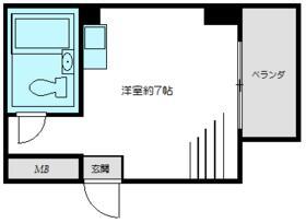トップルーム新宿公園第2・911号室の間取り