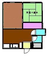 草ヶ谷荘 A棟 101号室の間取り