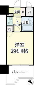 NICEアーバン横浜駅東館・00809号室の間取り