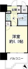 NICEアーバン横浜駅東館・00710号室の間取り