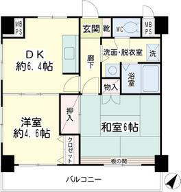 第5北川ビル・00803号室の間取り