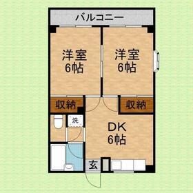 メゾン平沢 B101号室の間取り