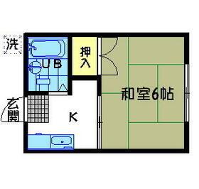 シティハイム田中・205号室の間取り