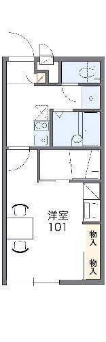 レオパレスパークハウス猿子・101号室の間取り