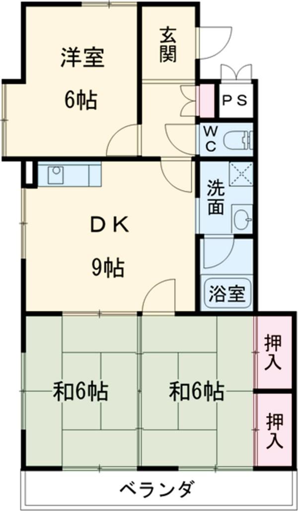 杉本マンション 2-A号室の間取り