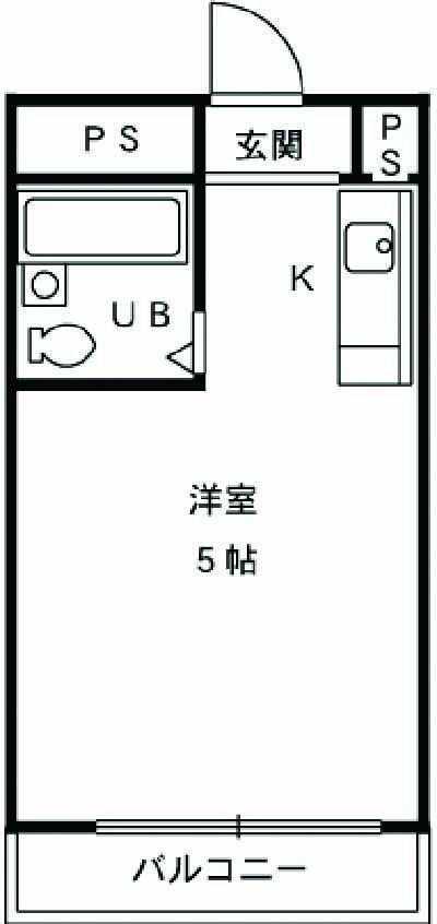 シティハウスナガサキ 205号室の間取り