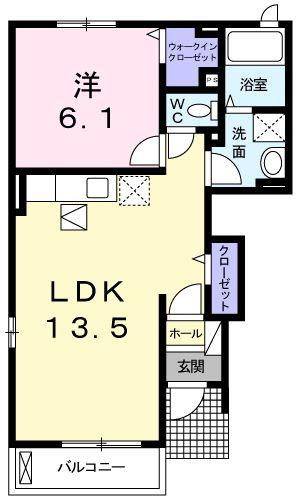 フロント・ヒル・01010号室の間取り