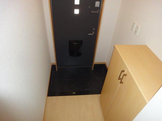 ウエストシティー 201号室の玄関