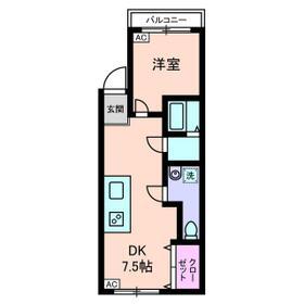 世田谷上町ローヤルコーポ・0305号室の間取り