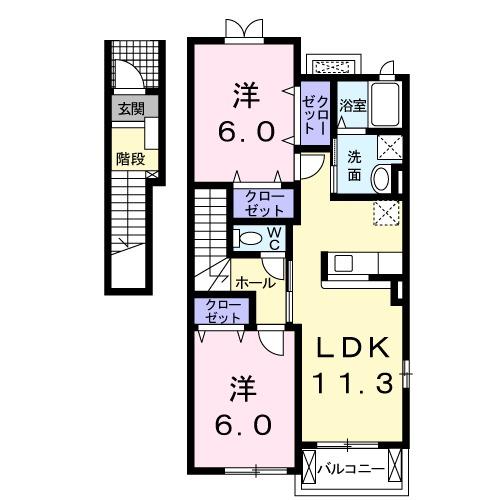 sma・ラパスⅠ 02010号室の間取り