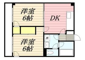 東元町第2マンション・0102号室の間取り