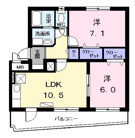 ペンション タカラ 03050号室の間取り
