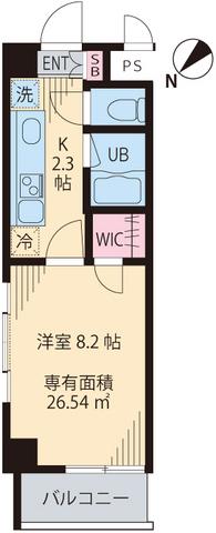 Monte Verde Tokiwada 412号室の間取り