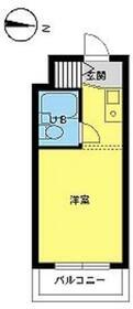 スカイコート下高井戸・411号室の間取り