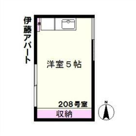 伊藤アパート(駒込)・208号室の間取り