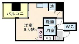 リード桜坂・0607号室の間取り