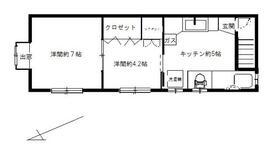 廣瀬荘・2号室の間取り