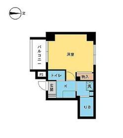 スカイコート渋谷初台 406号室の間取り