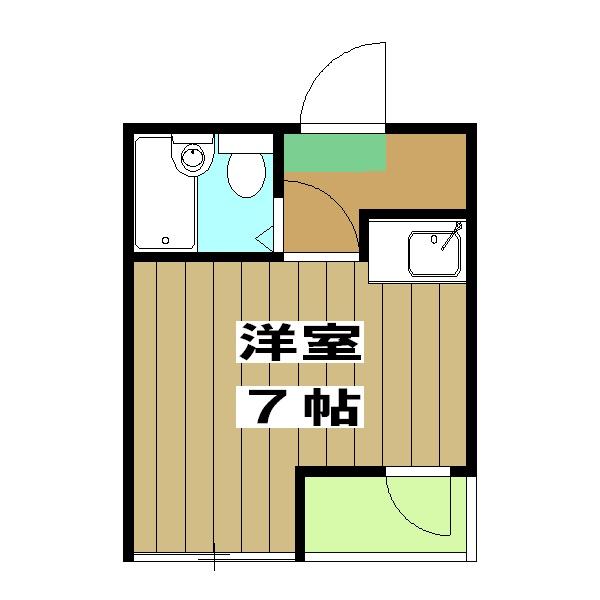 山田マンション・215号室の間取り
