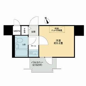 ライオンズマンション京都河原町・811号室の間取り