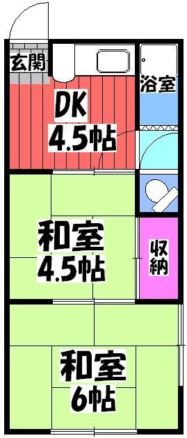 綾園パンション・202号室の間取り