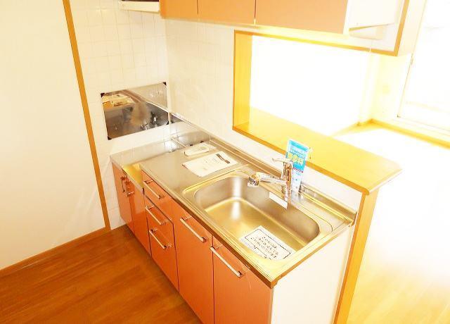 ボヌールフォンテーヌ 03020号室のキッチン