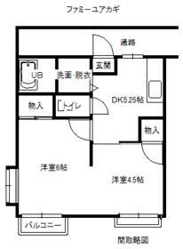 ファミ-ユ.アカギ・203号室の間取り