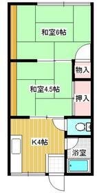 シティハイム千代田・206号室の間取り