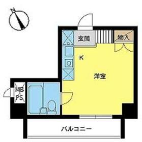 スカイコート浅草第3・802号室の間取り