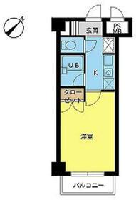 スカイコート日本橋人形町・802号室の間取り