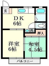 メゾン桜・102号室の間取り
