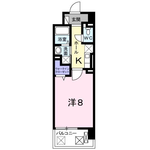 クラシェス尼崎・06030号室の間取り