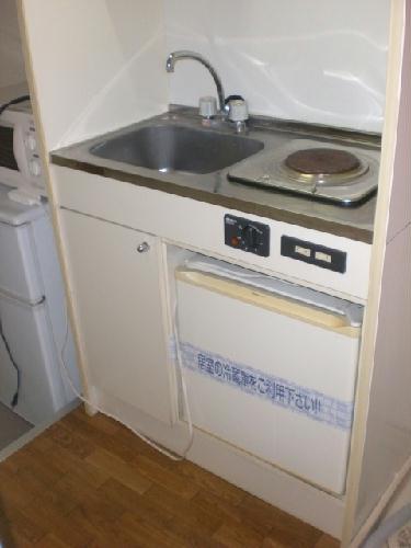 レオパレストゥインクル前沢 205号室のキッチン