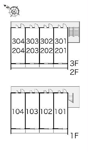 レオパレスシヴⅡ 202号室の玄関