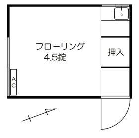 正和荘・8号室の間取り