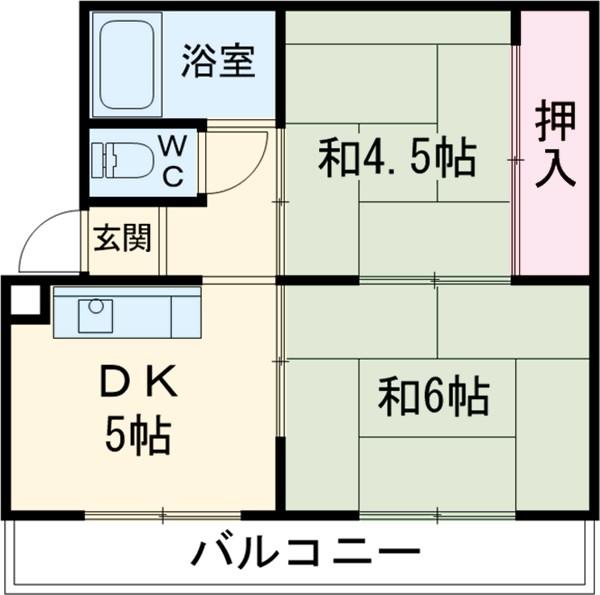 レジデンス永田・402号室の間取り