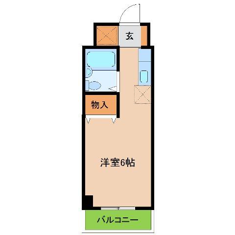 エステ-トピア黒沢 209号室の間取り
