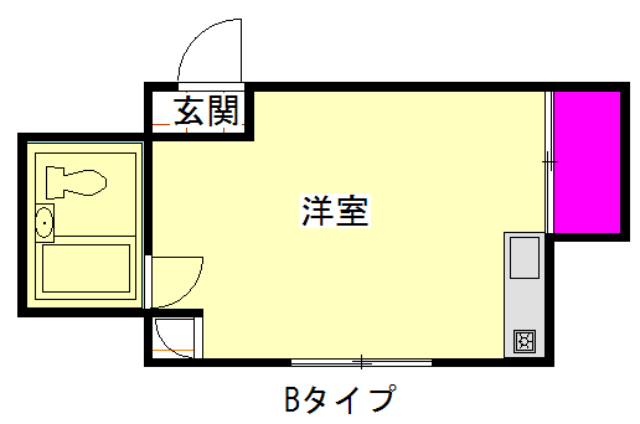 サンピュア井宮・402号室の間取り